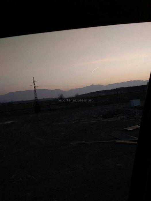 Читатель выслал фото «свечения» в небе в районе перевала Тёо-Ашуу