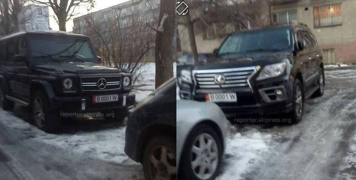 Один из одинаковых госномеров на двух машинах в Бишкеке является подложным, - ГРС