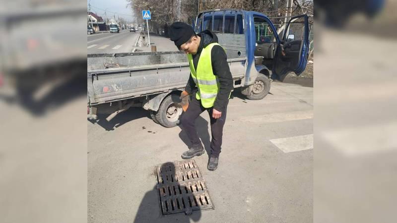 Ливнеприемник на Орозбекова-Васильева закрыт, - мэрия