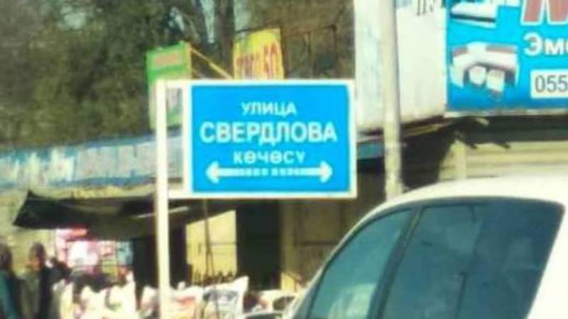 Таблички с неправильными названиями улиц на кыргызском языке в Военно-Антоновке исправят в ближайшее время
