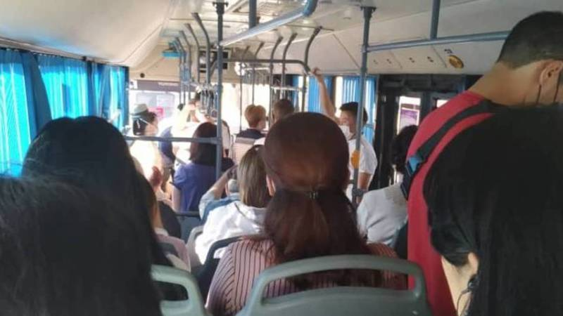 Автобусы в Бишкеке забиты, - горожанин. Фото