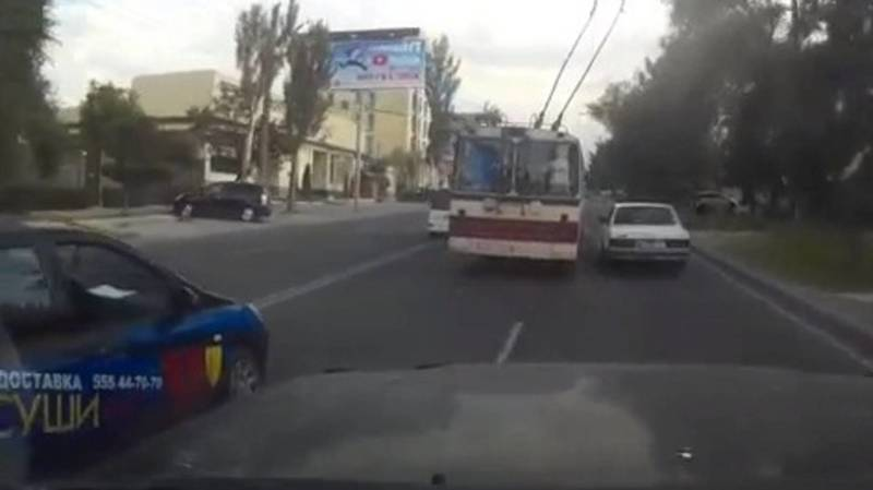 «2 минуты из жизни лихого водителя троллейбуса». Видео