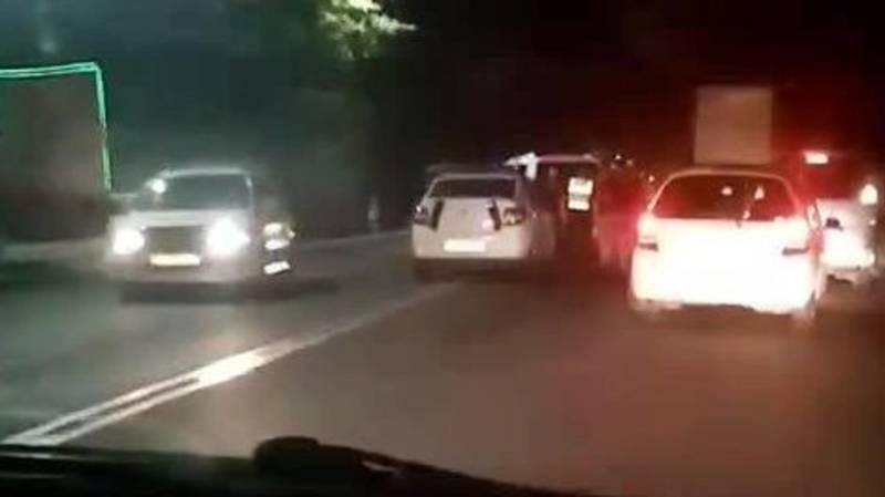 ДТП на ул.Ленинградской. Внедорожник столкнулся с легковушкой. Видео