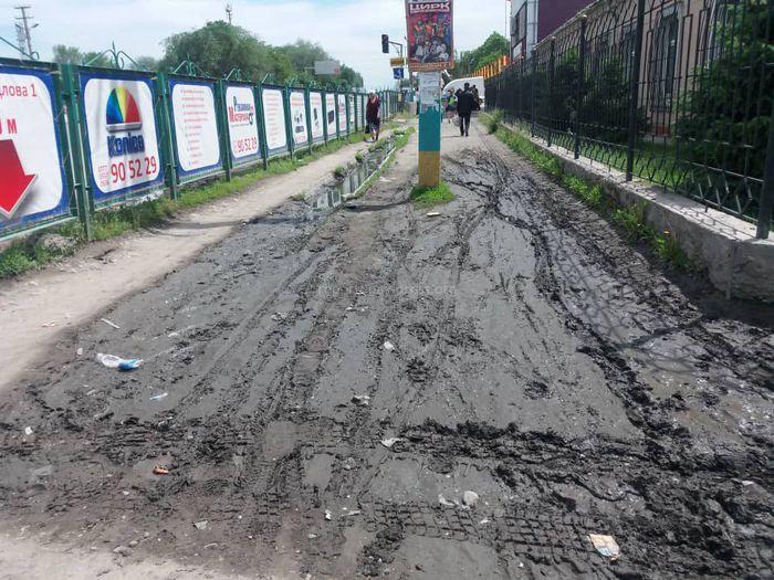 Тротуар в центре Сокулука в катастрофическом состоянии (фото)