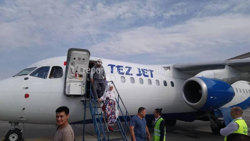 Самолет, направлявшийся из Бишкека в Ош, не смог взлететь в аэропорту