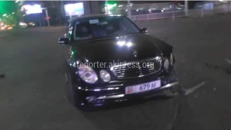 Водитель «Мерседеса» сбежал с места ДТП после столкновения с патрульной машиной, - ГУОБДД