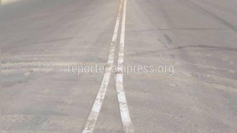 Дорожная разметка на ул.Ахунбаева была нанесена по утвержденному проекту