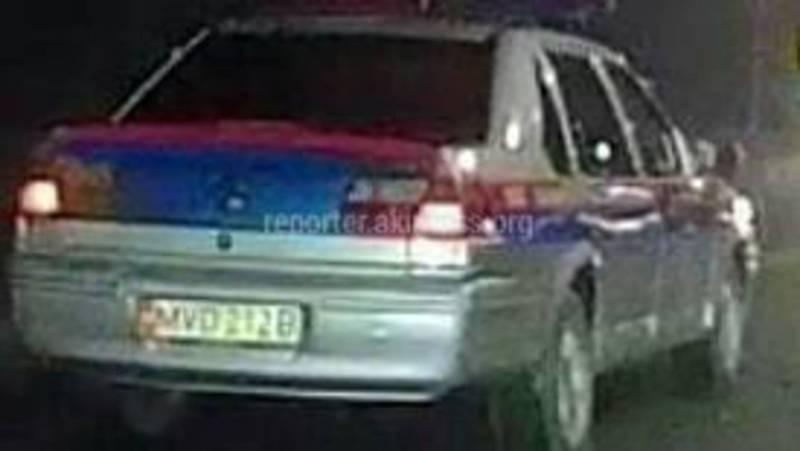На ул.Суеркулова патрульная машина нарушила ПДД (видео)