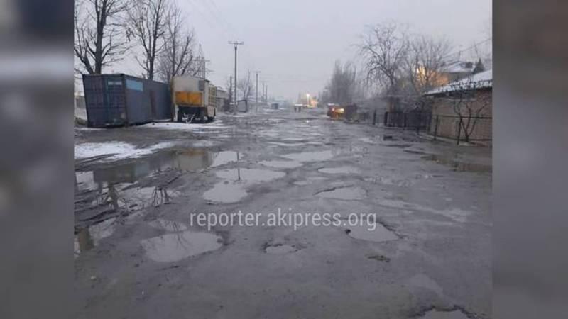 «Бишкекасфальтсервис» не планирует ремонт улицы Айни