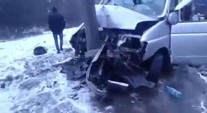 <b>Ужасающие кадры</b> — ДТП в Рязанской области, в котором пострадали 8 кыргызстанцев