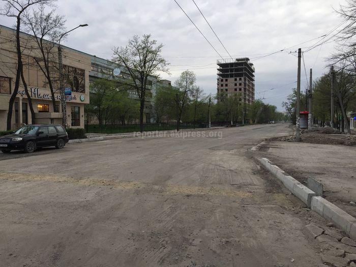 Когда закончат ремонт отрезка проспекта Жибек Жолу в Бишкеке? - житель (фото)