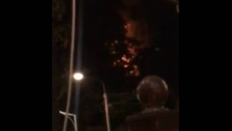 Видео пожара в доме на улице Токтогула