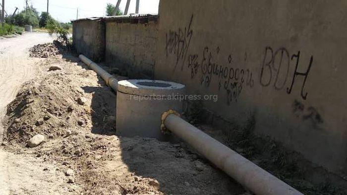Канализационные трубы в районе ГЭС-2 прокладывают законно, - Аламединский акимиат