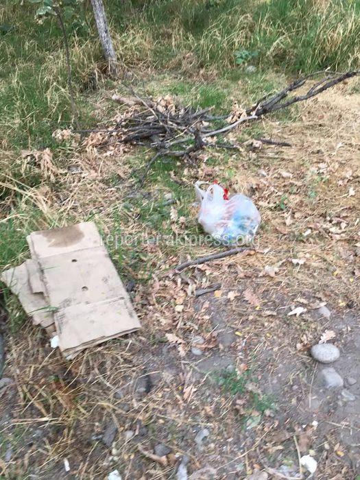 Сквер на улице Туголбай-Ата завален мусором