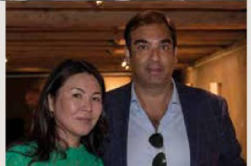 Бермет Акаева с мужем. Фото в швейцарском журнале