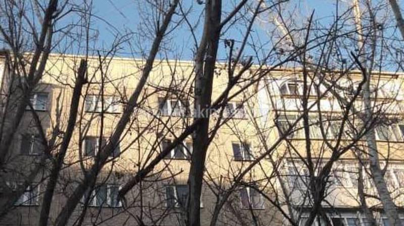 В мкр.Асанбай во дворе дома над детской площадкой висит большая ветка, - житель (видео)