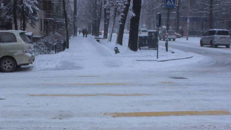 Фото – Как Бишкек переживает долгожданный снегопад?