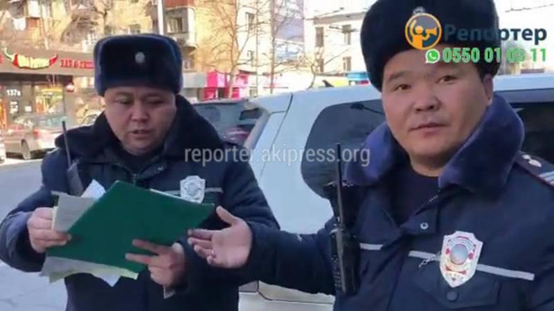 Видео — Инспектор УОБДД оштрафовал своего коллегу