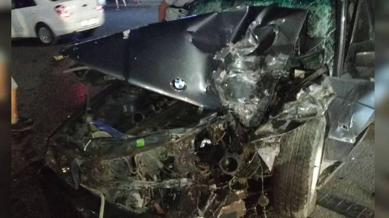 На Токомбаева—Байтик Баатыра столкнулись три машины. Фото