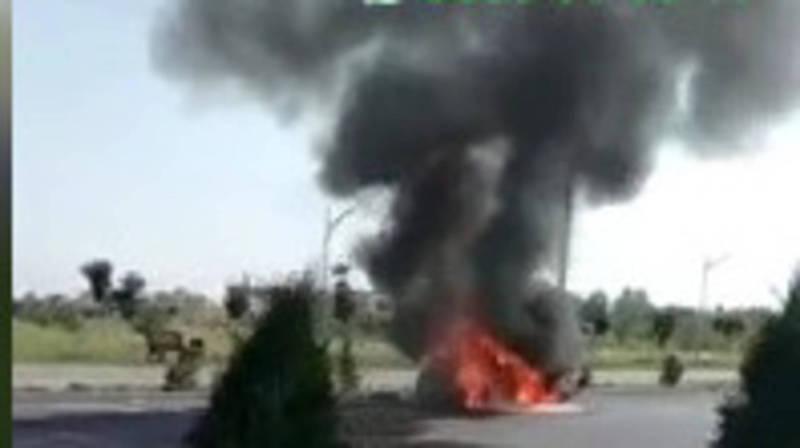 На Южной магистрали сгорела машина