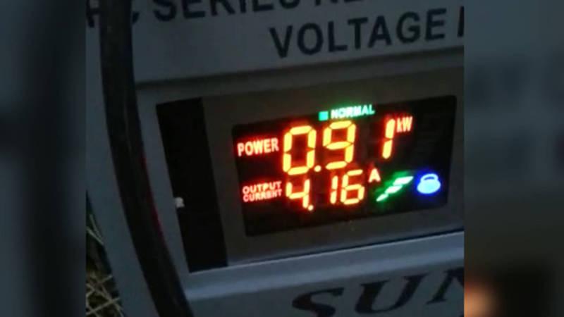 В селе Тамчы слабое напряжение в электрической сети (видео)
