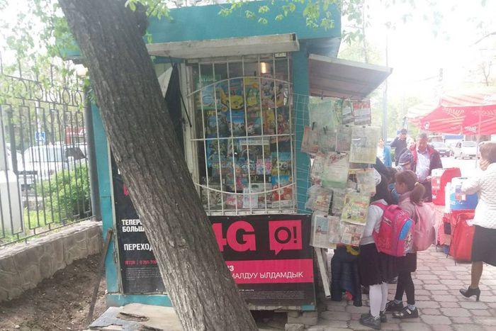Житель Бишкека интересуется законностью установки киоска на Московской-Турусбекова (фото)
