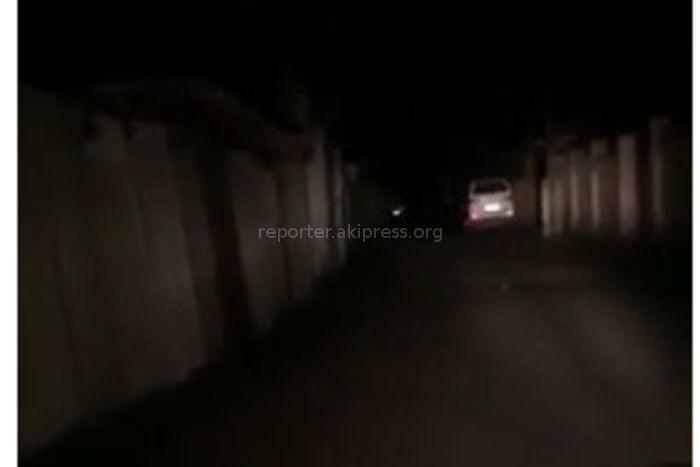 На ул.Чодронова поселка Чон-Арык отсутствует уличное освещение (видео)
