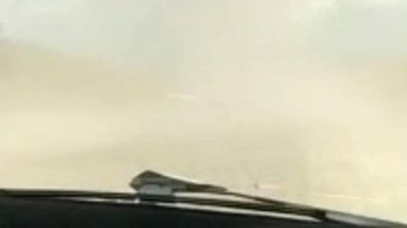 Водитель жалуется на пыль на трассе Ош—Бишкек. Видео