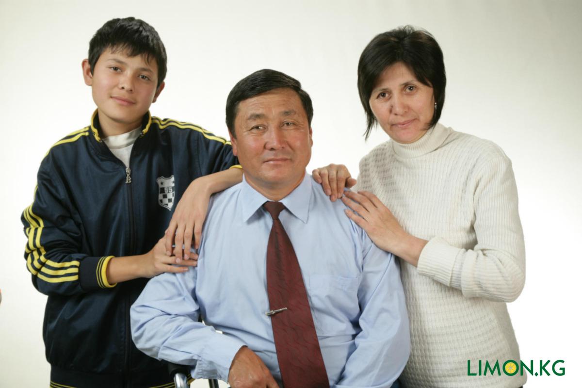 Бек с семьей