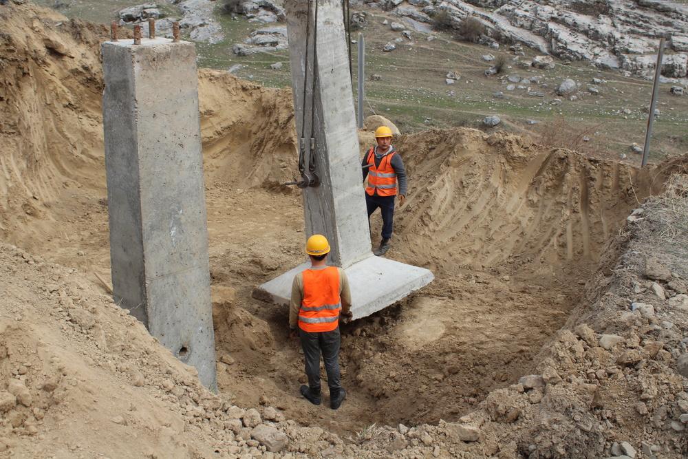 Строительство участка воздушной линии электропередач 35 кВ «Караван—Анашев» будет завершено в течение месяца, - «Жалалабатэлектро»