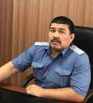 Полковник милиции Аскар Толубаев