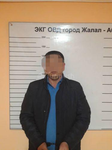 Подозреваемый в краже сумки и деньгами в городе Жалал-Абад