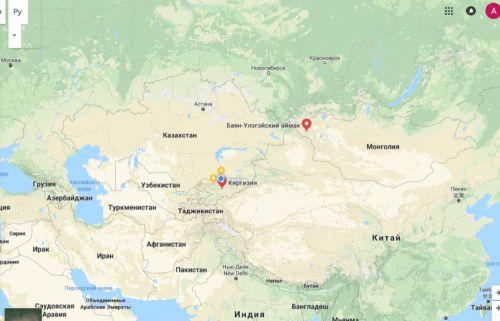 Карта. Кыргызстан - Баян-Өлгий