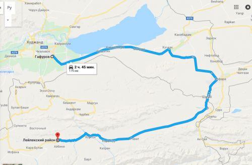 Гафуров - Лейлек (карта)