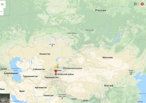 Кыргызстан-Кытай (карта)