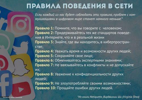 Правила поведения в сети (ИГ)