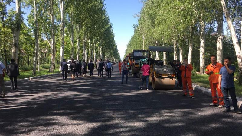 Мэрия планирует завершить ремонтные дороги на правительственной трассе по проспекту Ч.Айтматова через неделю