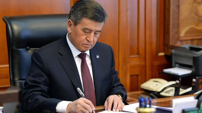Президент С.Жээнбеков подписал закон о ратификации кредитного соглашения по проекту строительства насосных станций в Бишкеке