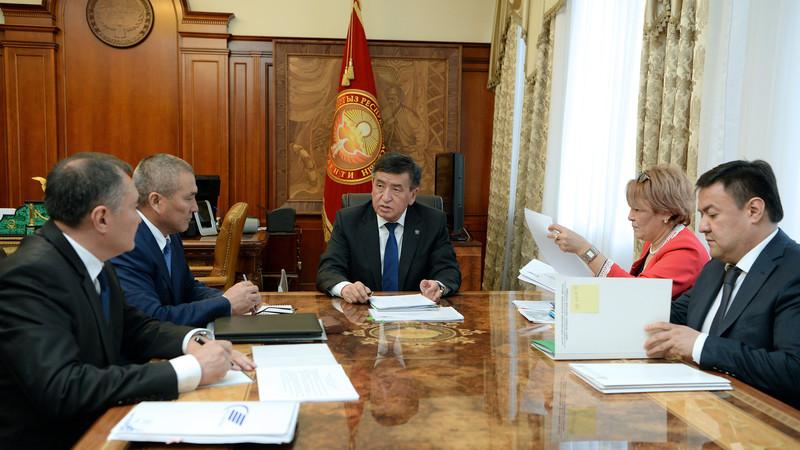 Президент ознакомился с проектами по повышению транзитного потенциала и развитию дорожно-транспортного комплекса КР