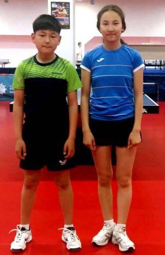 Теннисисты Ырыскелди Тагайбеков и Айсулуу Нурлан кызы