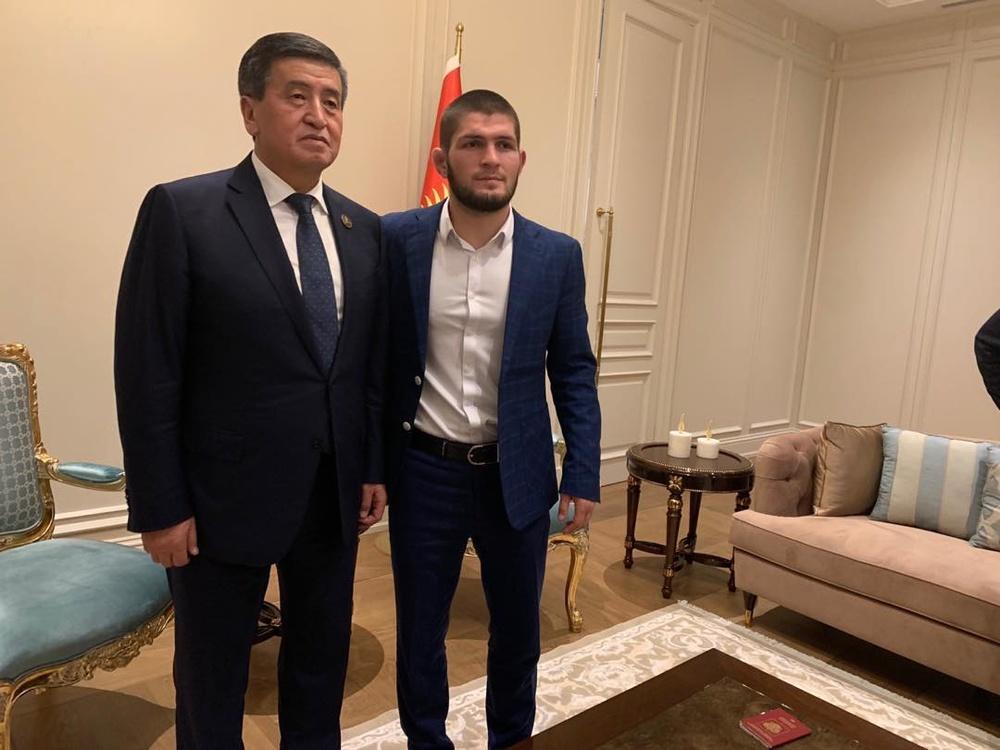 Сооронбай Жээнбеков и Хабиб Нурмагомедов